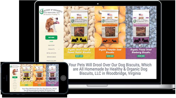 Healthy Organic Dog Biscuits, LLC website design