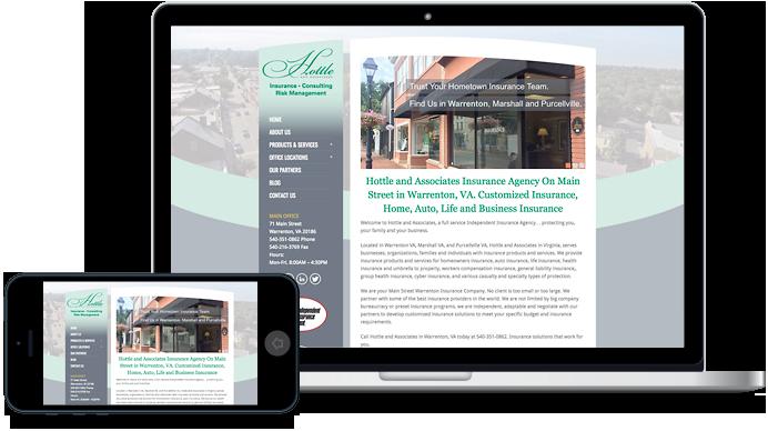 Hottle and Associates in Warrenton VA and Marshall VA Insurance Website Design