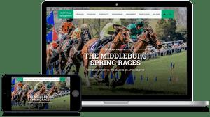 Middleburg Spring Races in Virginia website design