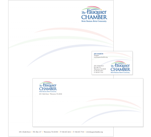 The Fauquier Chamber in Virginia stationery design