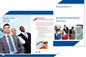 WashingtonFirst Bank in Virginia business services brochure