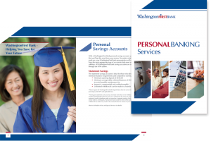 WashingtonFirst Bank in Virginia Personal Banking Services brochure