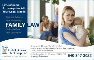 Ad for Gulick, Carson & Thorpe, P.C. in Warrenton VA