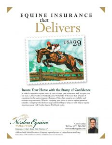Norden Equine Worldwide in Warrenton VA ad for horse and farm insurance