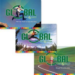 Postcard series for Global Print & Design in PA