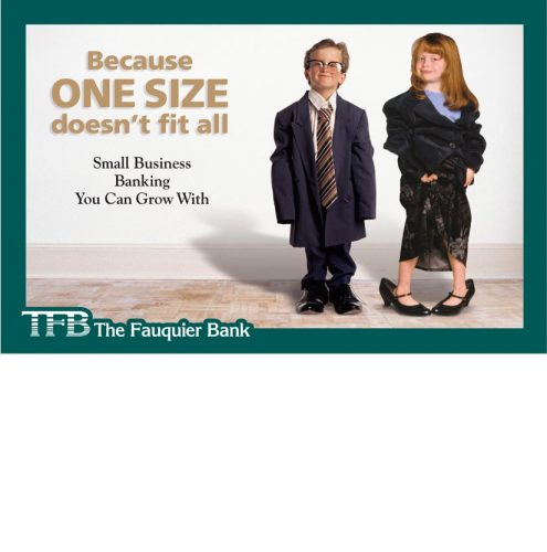 TFB Small Business Banking in VA direct mail brochure