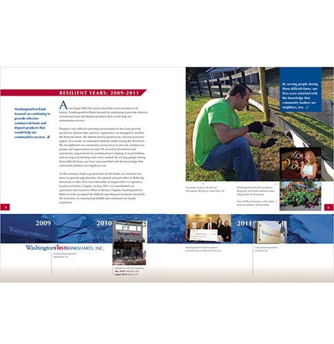 WashingtonFirst Bank in VA annual report inside spread