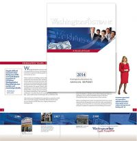 WashingtonFirst Bank in VA annual report cover and inside spread