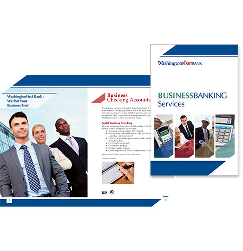 WashingtonFirst Bank in VA Business Banking Services brochure