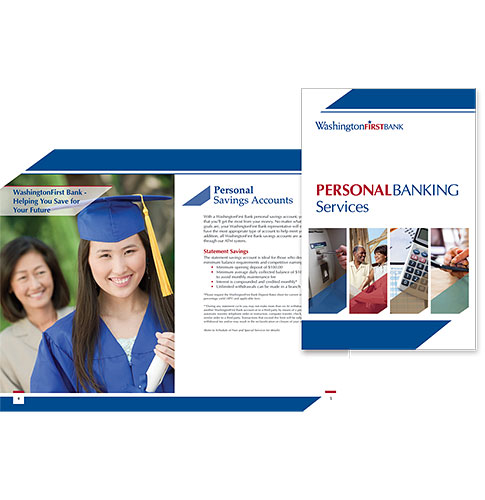 WashingtonFirst Bank in VA Personal Banking Services brochure